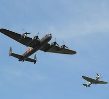 Fighter Escort by Nigel Bangert