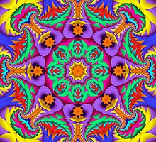 The Summer Kaleidoscope, Fractal Patterned Abstract by walstraasart