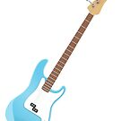 guitar in blue by nadil