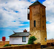 South Lookout Tower Aldeburgh Beach by Chris Thaxter