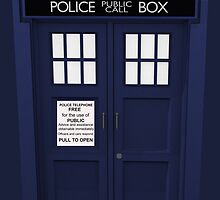 Tardis vintage blue british police phone box  by nadil