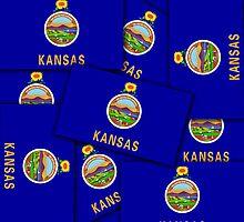 Smartphone Case - State Flag of Kansas - Multiple by Mark Podger
