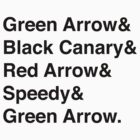Team Arrow Super Names by ShadoCanary