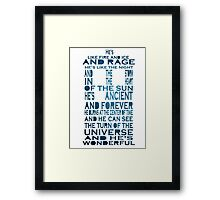 Doctor Who Tardis Quote Design Framed Print