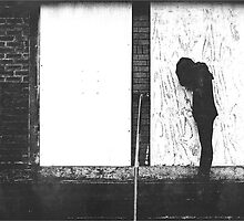 Silhouette Against White Boards by Neil Whiteley