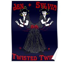 Twisted Victorian Twins Poster