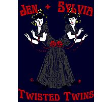 Twisted Victorian Twins Photographic Print