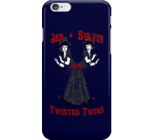 Twisted Victorian Twins iPhone Case/Skin