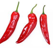 Red Hot Chillies peppers by DmiSmiPhoto