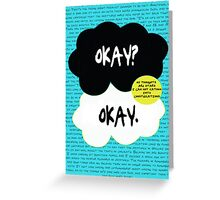 The fault in our stars. Greeting Card