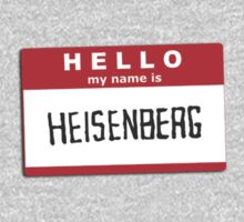 Hello, my name is Heisenberg - Walter White, Breaking Bad by hamburgrhotdog