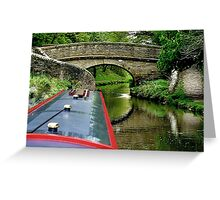 A snake bridge on the Macclesfield Canal, Cherhire, UK......! Greeting Card