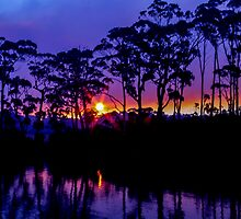 Bush Fire Sunset by Paul Campbell  Photography