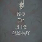 Find joy in the ordinary quotes by thejoyker1986