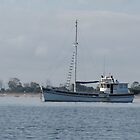 Fishing Boat anchored, Hardwicke Bay, Yorke Peninsula, S.A. by Rita Blom