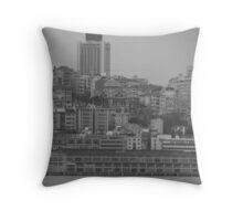 Buildings in Karaköy. Throw Pillow