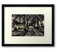 Kikas cemetery Framed Print