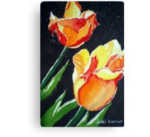 SUN-KISSED TULIPS Canvas Print