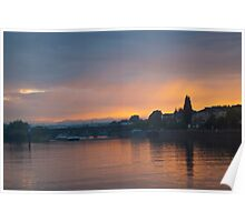 Sunset on The Mosel River Poster