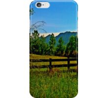 The Old Fence, The Ancient Mountains, and The Wild Field iPhone Case/Skin