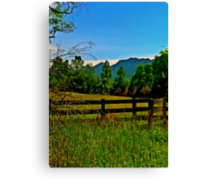 The Old Fence, The Ancient Mountains, and The Wild Field Canvas Print