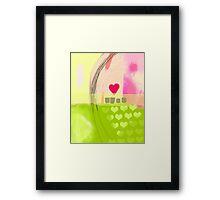 Corner of pink heart Framed Print