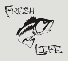 Fresh Life Back  T-shirt by Fl  Fishing