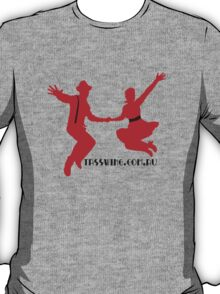 Tasswing Tee - Red silhouette with black and red detailing T-Shirt