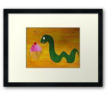 Snake with a Cake Framed Print
