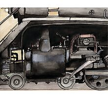 Inner Workings of a Locomotive Photographic Print