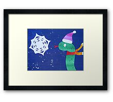 Snake with a Snow Flake Framed Print