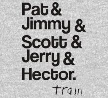 Train - Band Members (With Logo) - Pat, Jimmy, Scott, Jerry & Hector by ILoveTrain