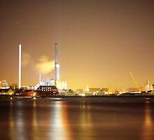 Petrol Island Copenhagen, HDR, Nightshot by WPDWA
