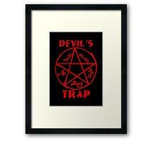 Devil's trap Framed Print