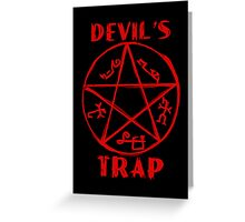Devil's trap Greeting Card