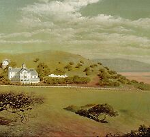 Belmont, The Estate of William Chapman Ralston, 1874 (oil on canvas) by Bridgeman Art Library