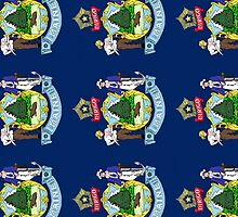 Smartphone Case - State Flag of Maine - Vertical II by Mark Podger