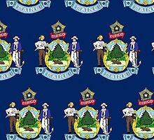 Smartphone Case - State Flag of Maine - Horizontal II by Mark Podger