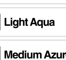 Brick Sorting Labels: Light Yellow, Lime, Light Aqua, Medium Azure, Dark Azure Sticker