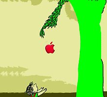 The Giving Tree with Apple Art Painting by neutrone