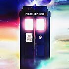 Tardis Doctor Who in Cloud Art Painting by neutrone