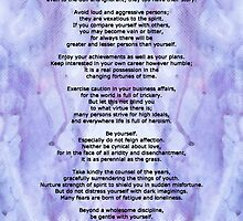 Desiderata 3 - Words of Wisdom by Sharon Cummings