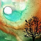 Summer Moon - Landscape Art By Sharon Cummings by Sharon Cummings