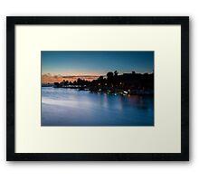 Beach bar after sunset Framed Print