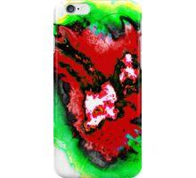 Dark red  green phoenix iPhone Case/Skin