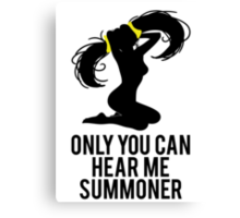 Sona - Only You Can Hear Me Summoner Canvas Print