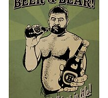 Beer and Bear - It's the simple things in life by BearYourArt
