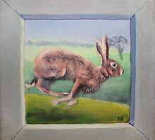 Nowhere to run - Sussex Brown Hare by ruska