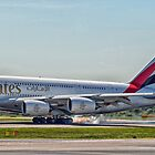 A380 at Manchester Airport by Matt Eagles