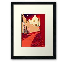 Dysart: Scottish Town digital drawing Framed Print